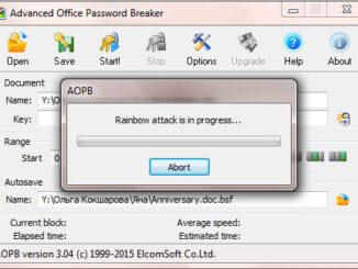 Advanced Office Password Breaker Sample