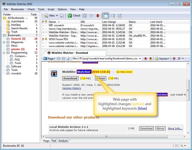 WebSite Watcher Sample