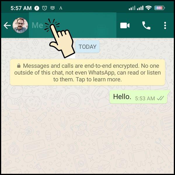 تمكين القدرة على إرسال رسائل مختفية في WhatsApp