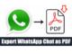 PDF من دردشة WhatsApp