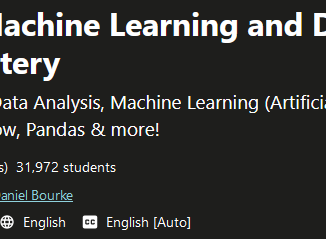 Complete Machine Learning and Data Science Zero to Mastery