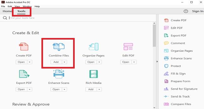 ادمج عدة ملفات PDF