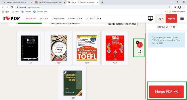 كيفية دمج ملفات PDF متعددة