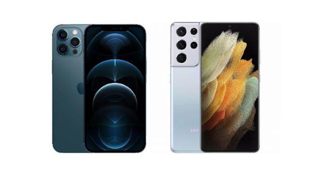 قارن بين Galaxy S21 Ultra و iPhone 12 Pro Max
