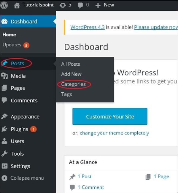 فئة تحرير WordPress