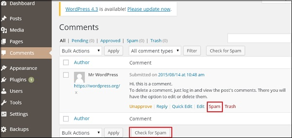 حماية WordPress من البريد العشوائي