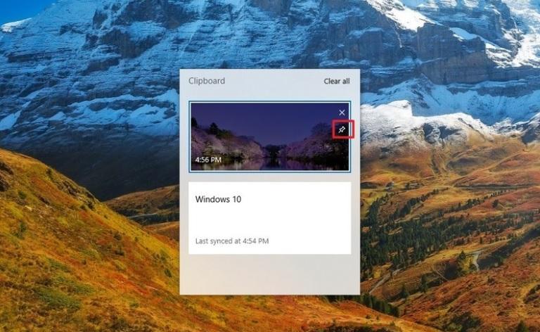 تحقق من حافظة Windows 10