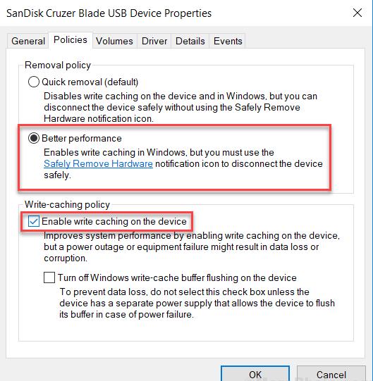 تسريع النسخ في Windows