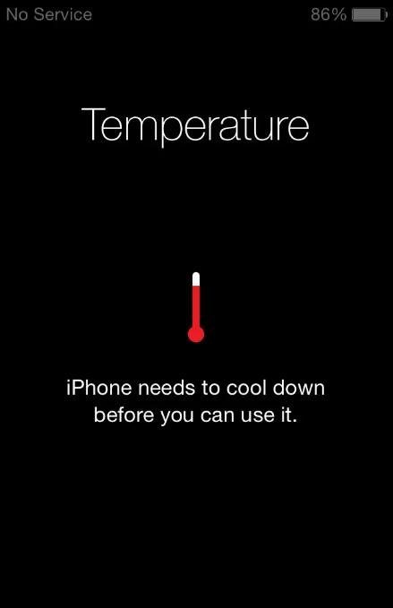 تسبب في ارتفاع درجة حرارة الهاتف