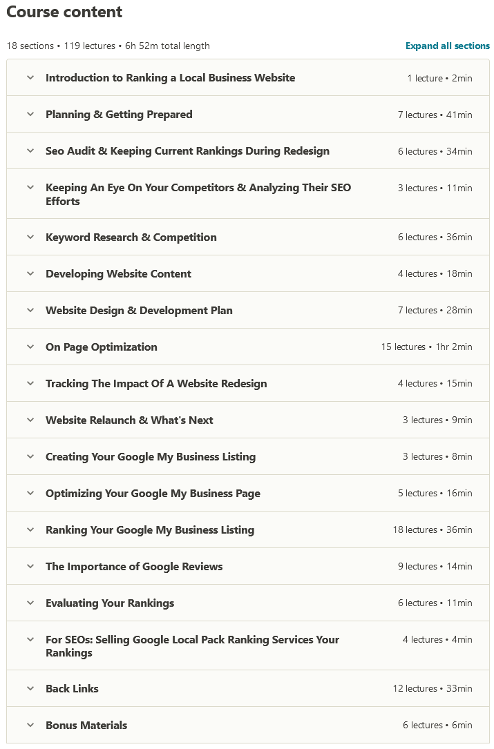 2020 Complete SEO Guide to Ranking Local Business Websites Content