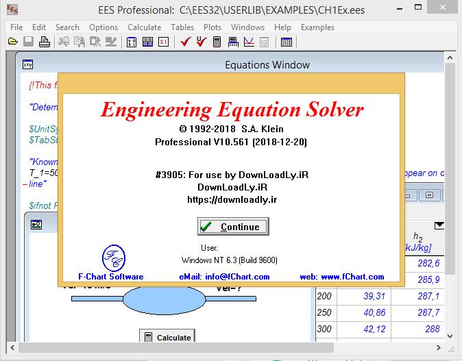 حل المعادلات الهندسية