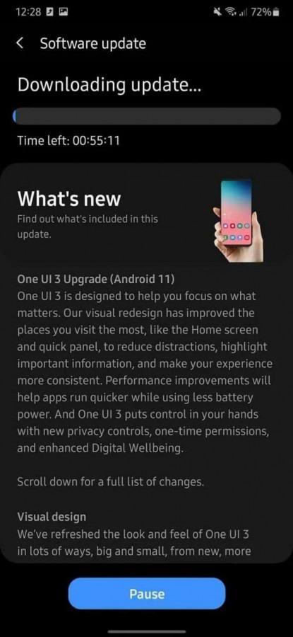 تحديث Android لجهاز Galaxy A50