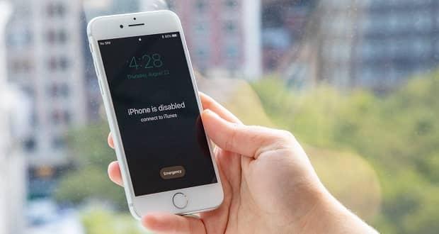 تعيين كلمة مرور iPhone