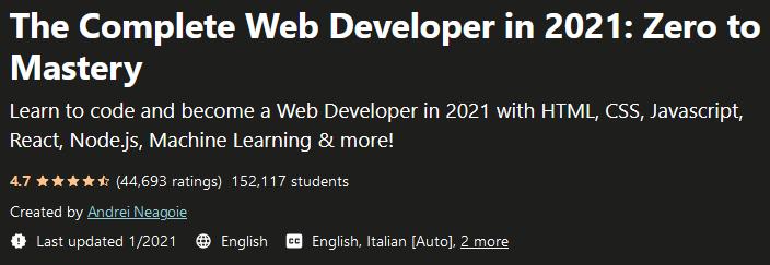 مطور الويب الكامل