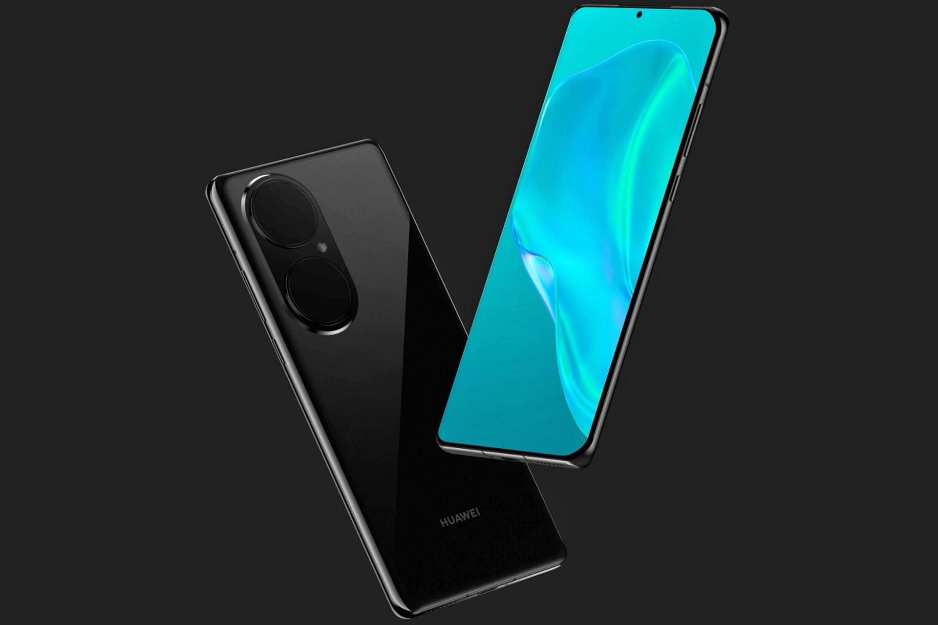 كشف عن تقديم Huawei P50 Pro باللون الأسود من الأمام والخلف