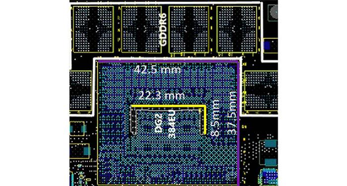 صورة غير رسمية لوحدة معالجة الرسومات Intel Xe-HPG 384EU