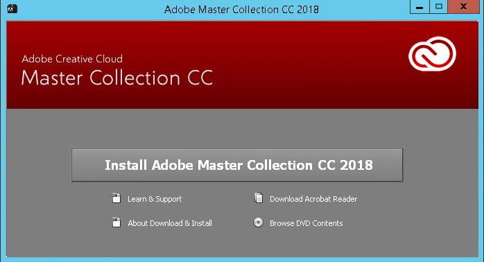 مجموعة Adobe Master 2018