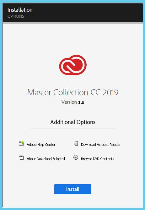 مجموعة Adobe Master Collection CC 2019