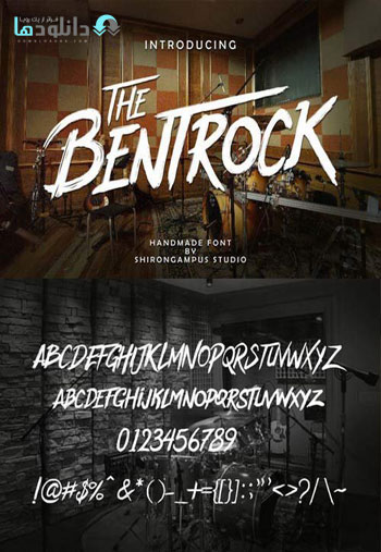 The BentRock Typeface