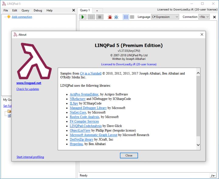 LINQPad Premium 6.13.13